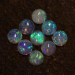 Australian White Opal and Fire Opal Gemstone Oval Cut Cabochon october birthstone